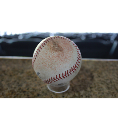 Photo of Game-Used Baseball: Giovanny Urshela 76th Career Single (CLE at KC - 8/18/17)