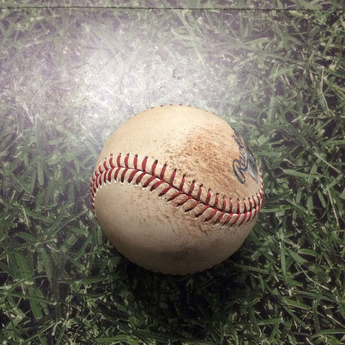 Photo of Game-Used Baseball 07/02/17 MIA@MIL - Rob Scahill to Ichiro Suzuki: Ball 1