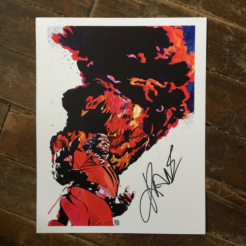 Photo of Kane SIGNED 11 x 14 Rob Schamberger Print