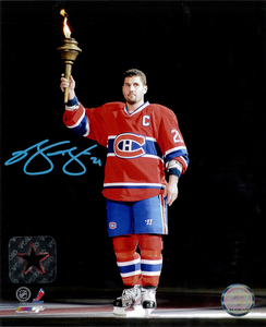 Brian Gionta Autographed Montreal Canadiens TORCH 8x10 Photo