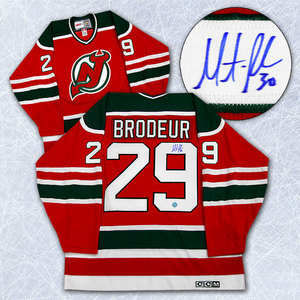 Martin Brodeur New Jersey Devils Autographed #29 1st NHL Game Retro CCM Jersey