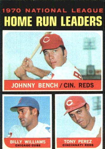 Photo of 1971 Topps #66 NL Home Run Leaders/Johnny Bench/Billy Williams/Tony Perez