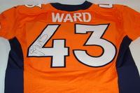 BCA - BRONCOS T.J. WARD SIGNED AND GAME ISSUED BRONCOS JERSEY (OCTOBER 9 2016)