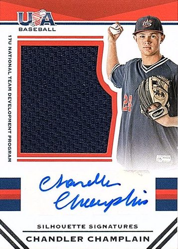 Photo of 2017 USA Baseball Stars and Stripes #97 Chandler Champlain RC AUTO Jersey 28/49