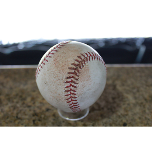 Photo of Game-Used Baseball: Carlos Santana 955th Career Single (CLE at KC - 8/18/17)