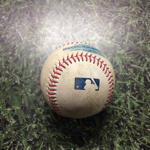 Photo of Game-Used Baseball 05/27/17 ARI@MIL - Zack Greinke to Eric Sogard: Double