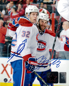 Brandon Prust & Travis Moen Dual Signed Montreal Canadiens Licensed 8x10 Photo