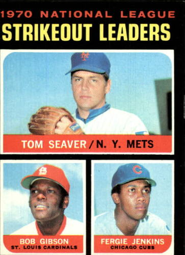 Photo of 1971 Topps #72 NL Strikeout Leaders/Tom Seaver/Bob Gibson/Fergie Jenkins