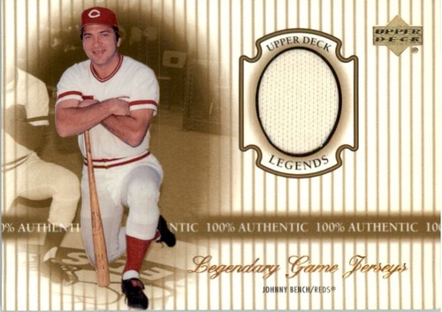 Photo of 2000 Upper Deck Legends Legendary Game Jerseys #JJB Johnny Bench