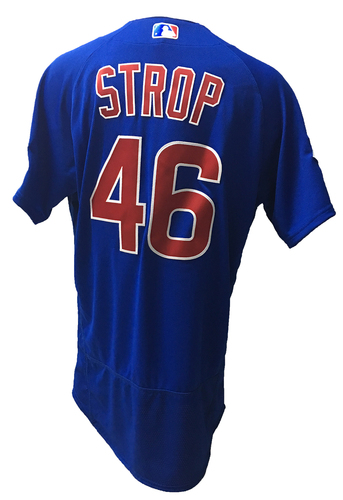 Photo of Pedro Strop Game-Used Jersey -- Strop; Hold, 0.2 IP, 0 ER -- 2016 World Champion Season -- NLDS Game 3 -- Cubs vs Giants -- 10/10/16