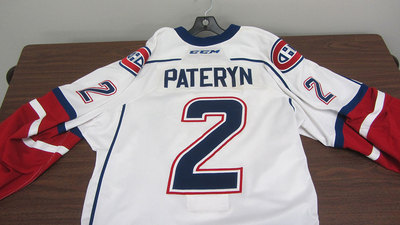 AHL WHITE GAME ISSUED GREG PATERYN JERSEY