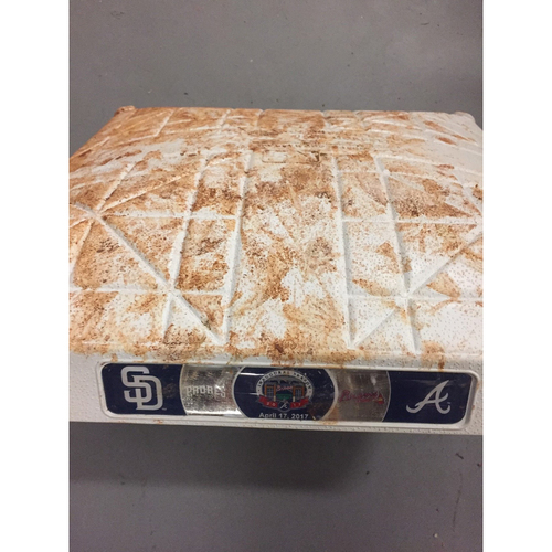 Photo of Game-Used 1st Base used 1-3 Innings on April 17, 2017 - First Series at SunTrust Park- Braves Swept the Padres