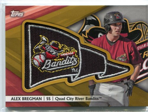 Photo of 2016 Topps Pro Debut Pennant Patches Gold #PPAB Alex Bregman 45/50