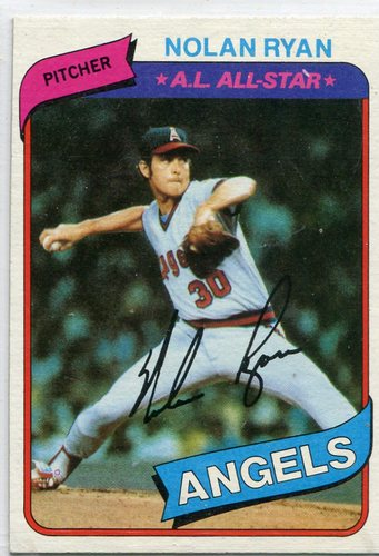 Photo of 1980 Topps #580 Nolan Ryan -- Hall of Famer