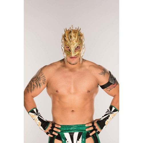 Photo of Kalisto WORN & SIGNED Gold Mask (Connors Cure - 09/11/17)