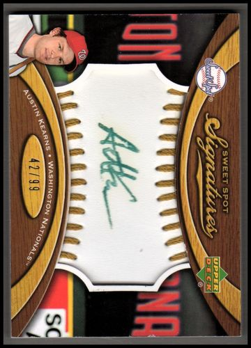 Photo of 2007 Sweet Spot Signatures Gold Stitch Gold Ink #AK Austin Kearns/99