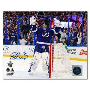 Ben Bishop Tampa Bay Lightning CELEBRATION Autographed 8x10
