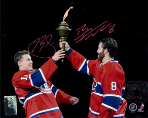 Brendan Gallagher & Brandon Prust Dual Signed Montreal Canadiens TORCH Licensed 8x10 Photo