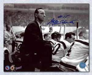 Milt Schmidt Boston Bruins Autographed Coach 8x10 Photo