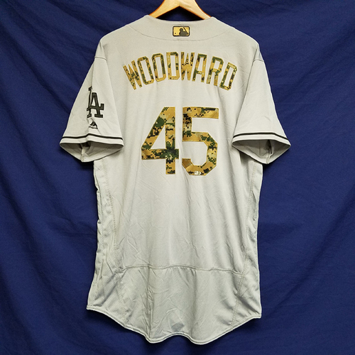 Photo of Chris Woodward 2016 Game-Used Road Memorial Day Jersey