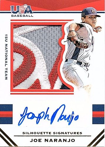 Photo of 2017 USA Baseball Stars and Stripes Prime #59 Joe Naranjo RC AUTO Patch 10/25
