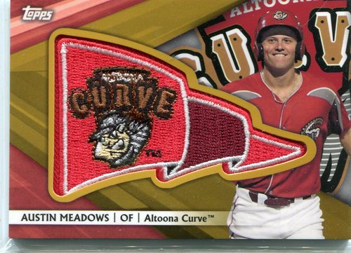 Photo of 2016 Topps Pro Debut Pennant Patches Gold #PPAM Austin Meadows 24/50
