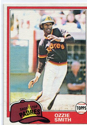 Photo of 1981 Topps #254 Ozzie Smith -- Hall of Famer