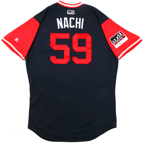 "Photo of Jose ""Nachi"" Castro Atlanta Braves Game-Used Players Weekend Jersey"