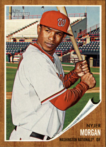 Photo of 2011 Topps Heritage #347 Nyjer Morgan