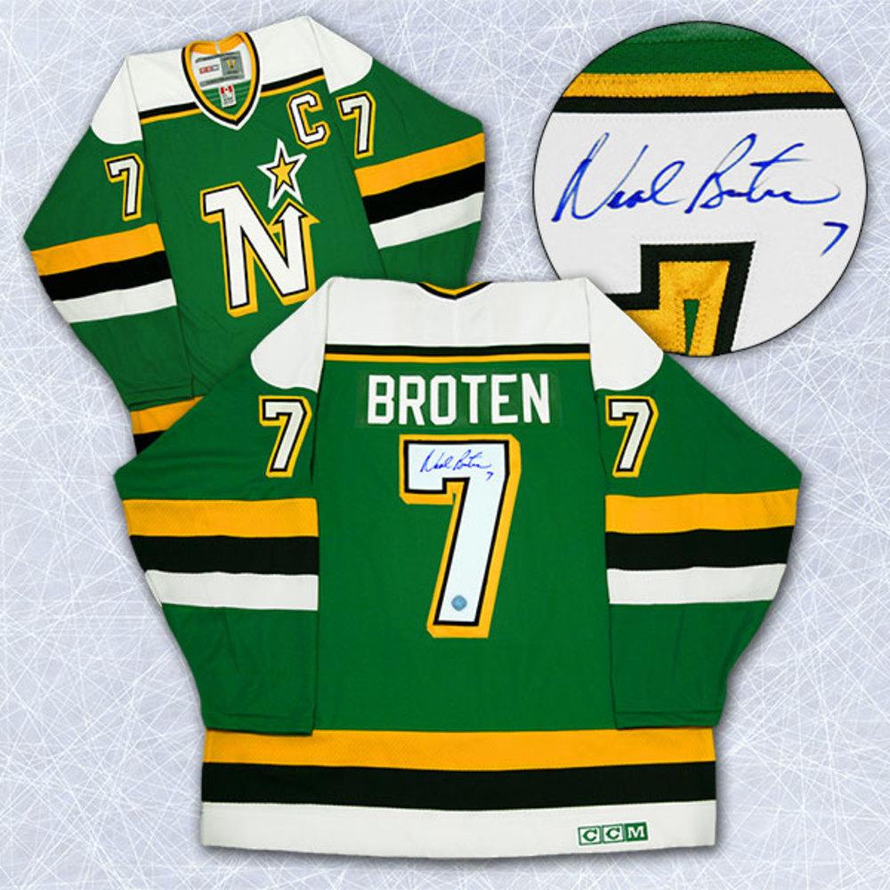 Neal Broten Minnesota North Stars Autographed Retro CCM Jersey