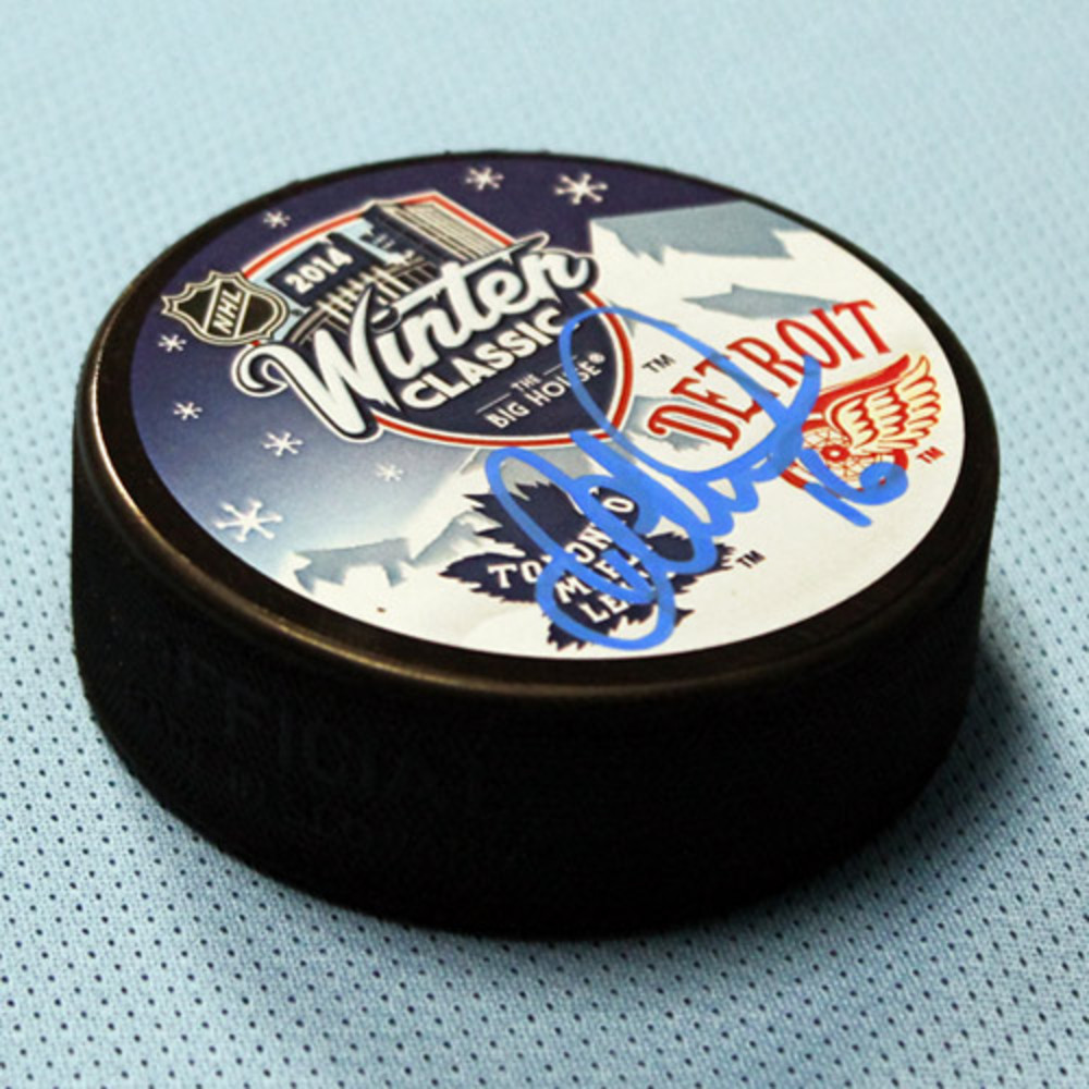 DARCY TUCKER Autographed Toronto Maple Leafs 2014 Winter Classic Puck