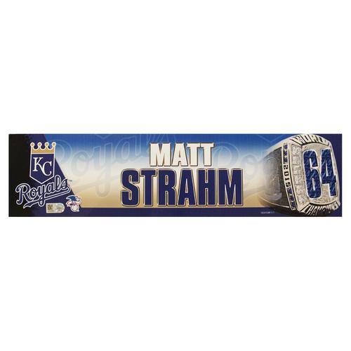 Photo of Matt Strahm 2016 Locker Nameplate