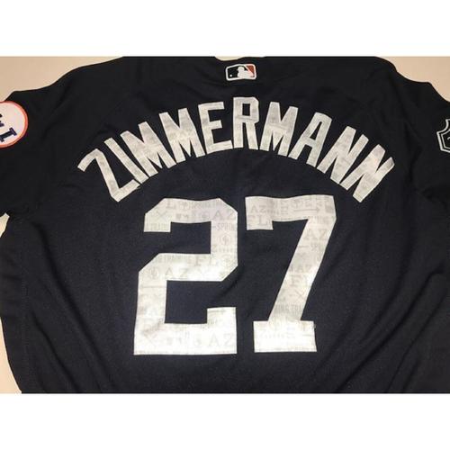 Photo of Team-Issued Road Spring Training Jersey: Jordan Zimmermann
