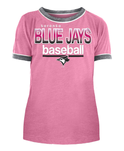 Toronto Blue Jays Youth Tri Blend Jersey Ringers T-shirt by New Era