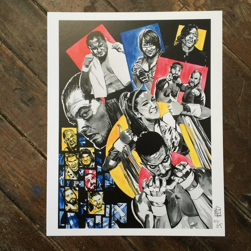 """Photo of Rob Schamberger SIGNED 11"""" x 14"""" NXT Superstar Collage Print"""