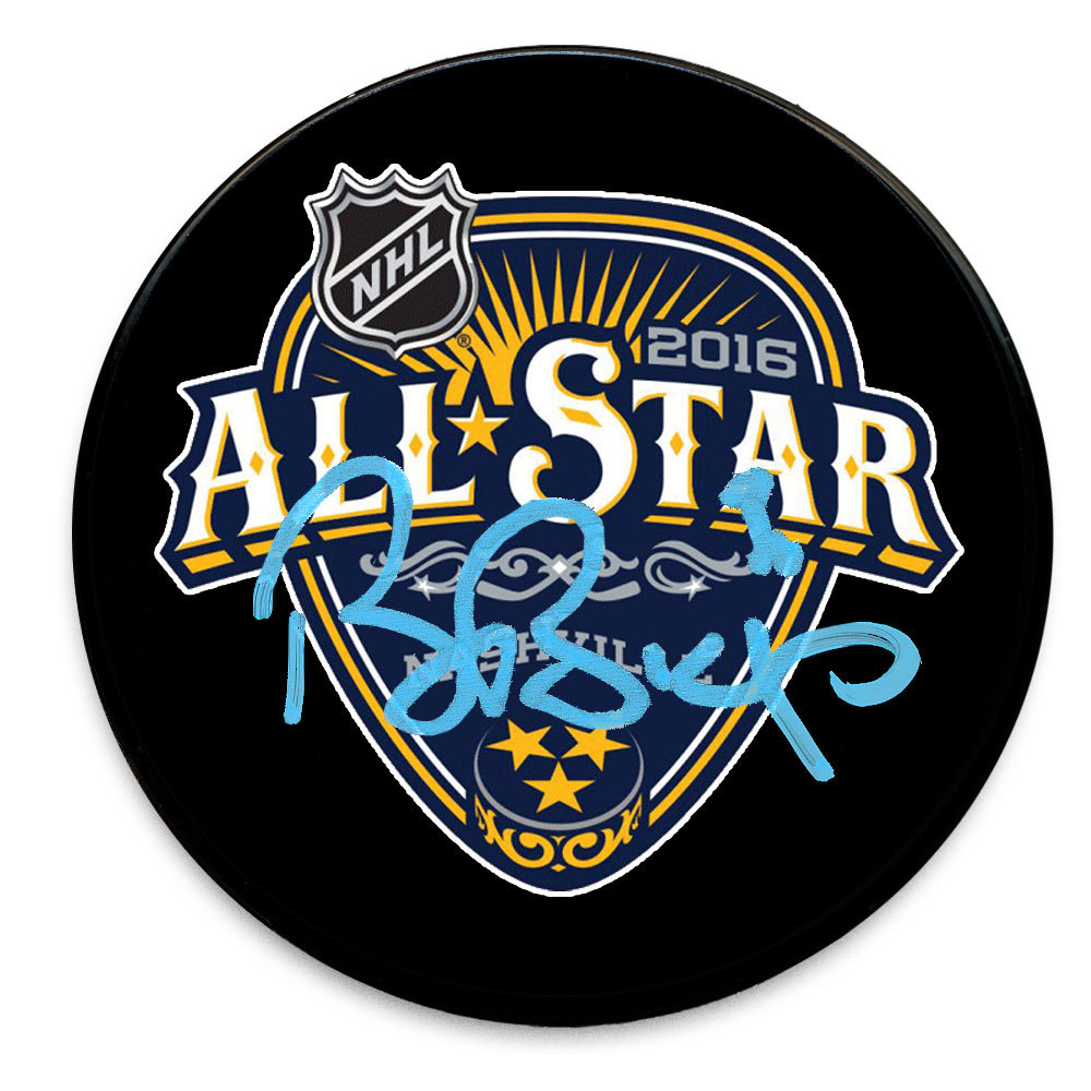 Ben Bishop 2016 NHL All-Star Autographed Puck Tampa Bay Lightning