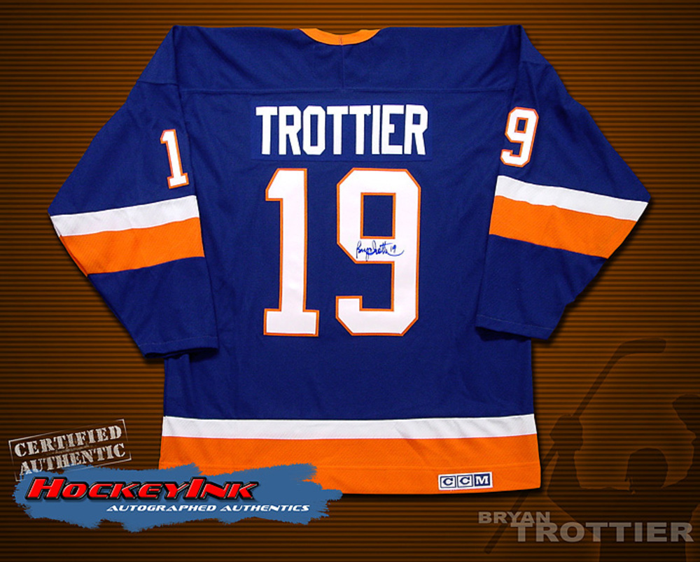 BRYAN TROTTIER Signed Blue New York Islanders Jersey