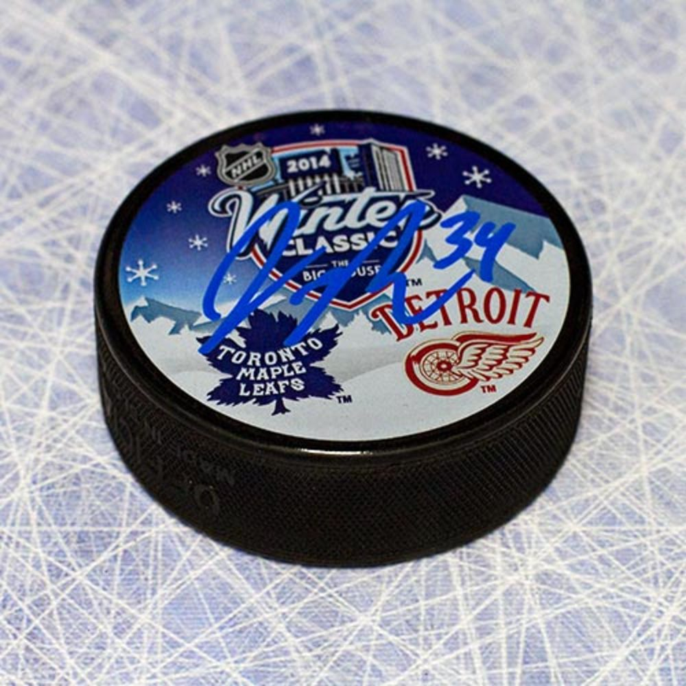 James Reimer Toronto Maple Autographed Leafs 2014 Winter Classic Hockey Puck