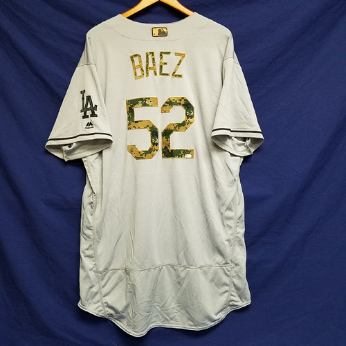 Photo of Pedro Baez 2016 Game-Used Road Memorial Day Jersey