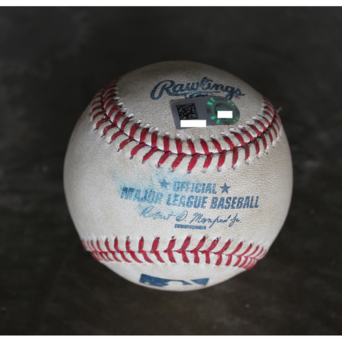 Photo of Game-Used Baseball: Jarrod Dyson Single (August 30, 2016 - NYY at KC)