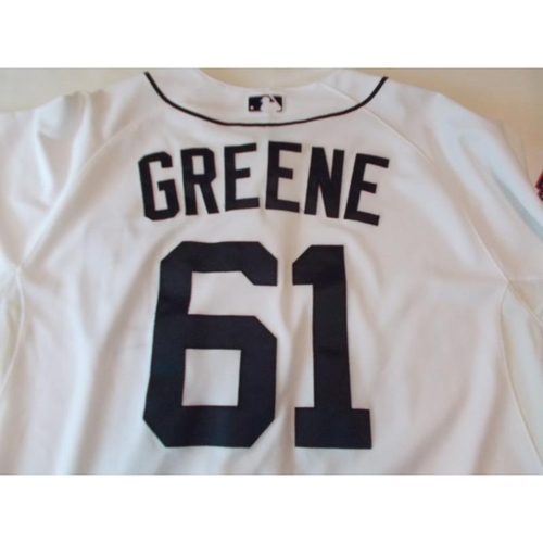 Photo of Team-Issued Shane Greene 2015 Home Spring Training Jersey
