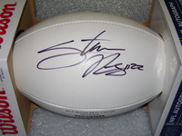 PATRIOTS - STEVAN RIDLEY SIGNED PANEL BALL W/ CHARITABLE FOUNDATION LOGO