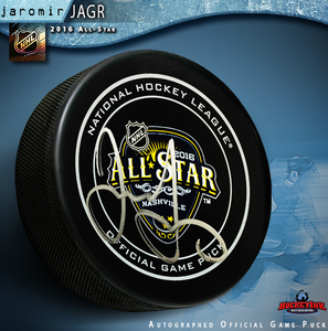 JAROMIR JAGR Signed 2016 All-Star Game Official Game Puck - Florida Panthers