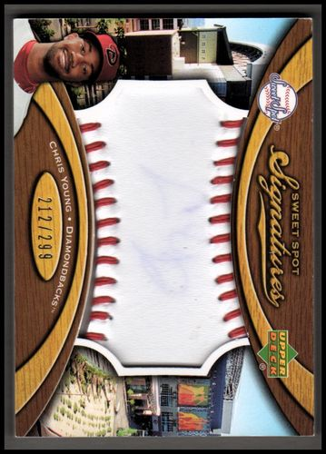 Photo of 2007 Sweet Spot Signatures Red Stitch Blue Ink #YG Chris B. Young/299