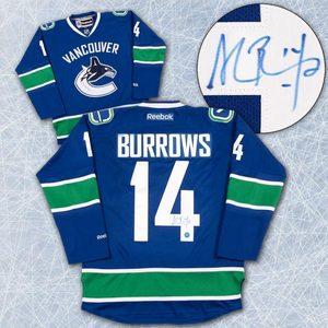 Alexandre Burrows Vancouver Canucks Autographed Reebok Premier Hockey Jersey