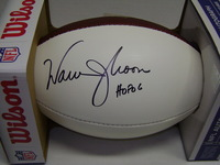 HOF - OILERS WARREN MOON SIGNED PANEL BALL