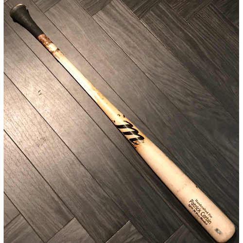 Photo of Brandon Drury Game-Used Broken Bat Using Patrick Corbin's Bat