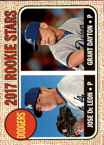 Photo of 2017 Topps Heritage #83 Grant Dayton RC/Jose De Leon RC