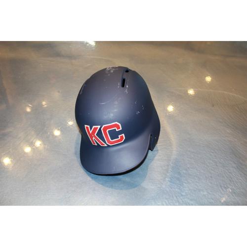 Photo of Christian Colon Game-Used Kansas City Monarchs Helmet (5/7/2017) (Size 7 1/4)