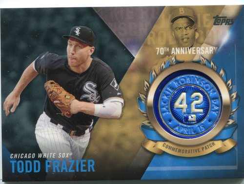 Photo of 2017 Topps Jackie Robinson Logo Patches #JRPCTF Todd Frazier